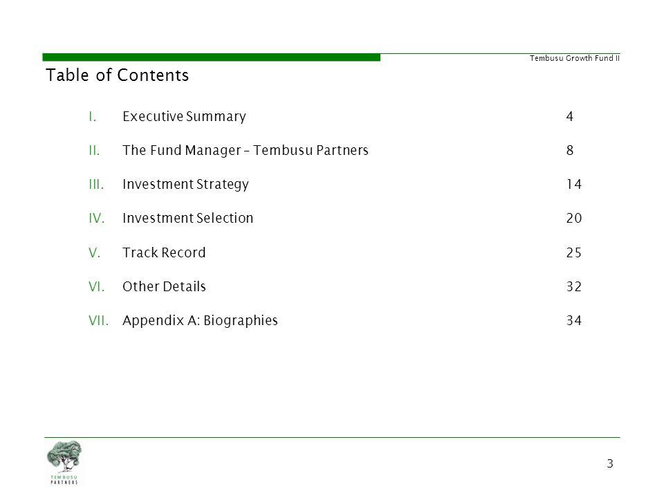 Tembusu Growth Fund II Appendix A: Biographies