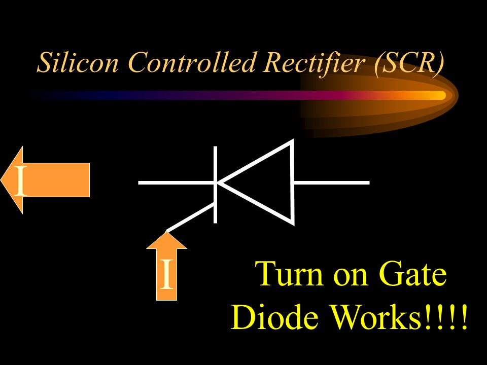 Silicon Controlled Rectifier (SCR) I I Turn on Gate Diode Works!!!!