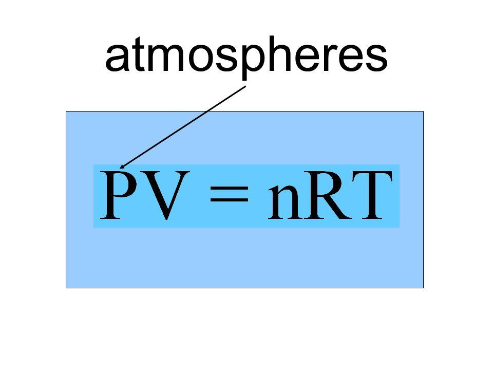 V P nT atmospheres