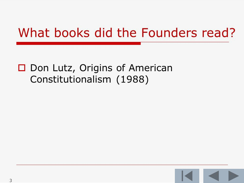 What books did the Founders read? 4 The Bible