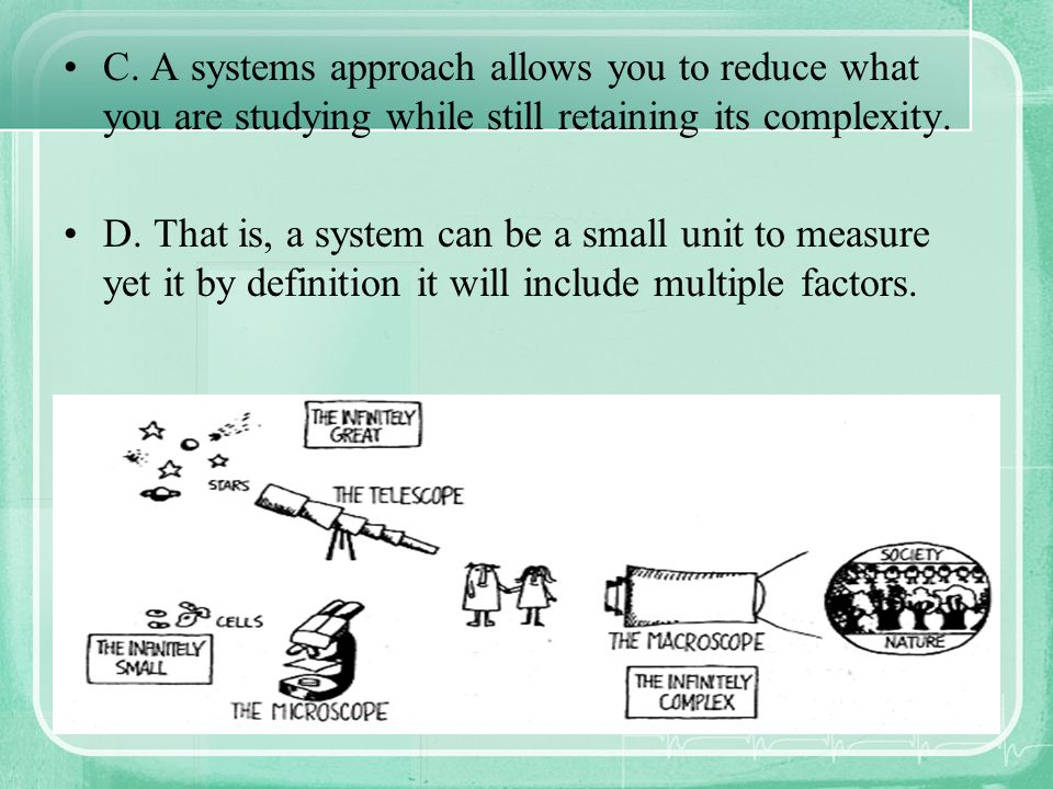 Systems Theory 1.