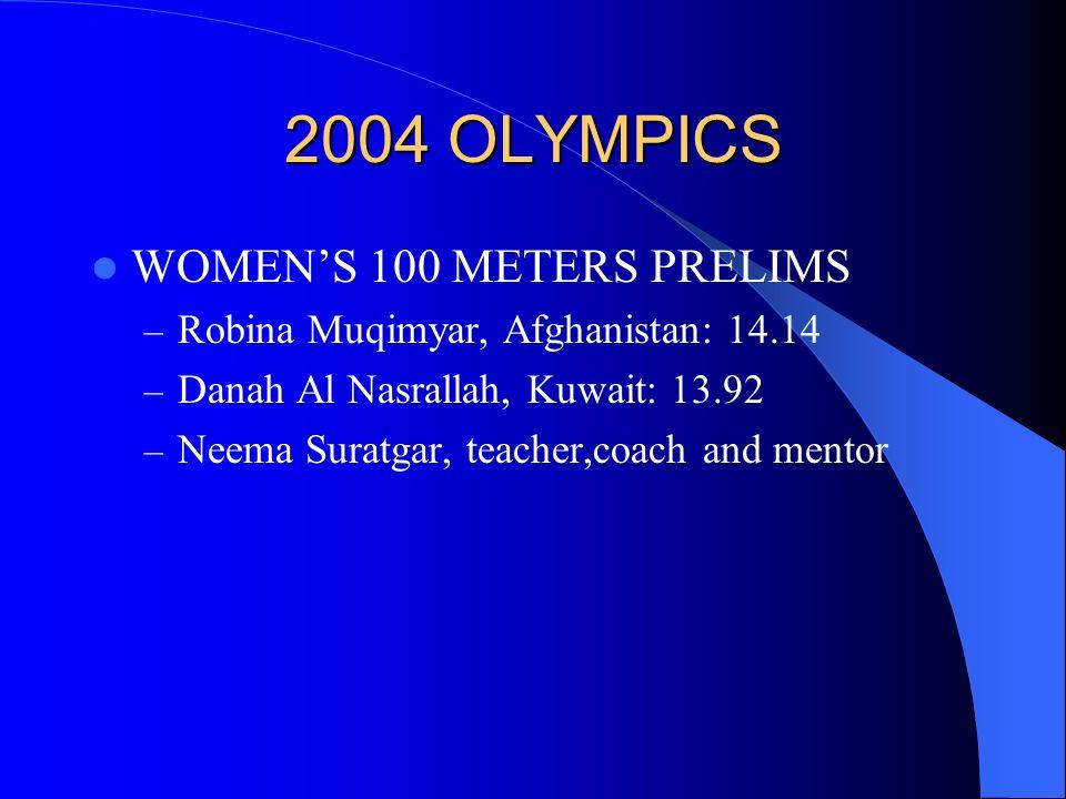 2004 OLYMPICS MENS 100 METERS – Justin Gatlin 9.85 sec.
