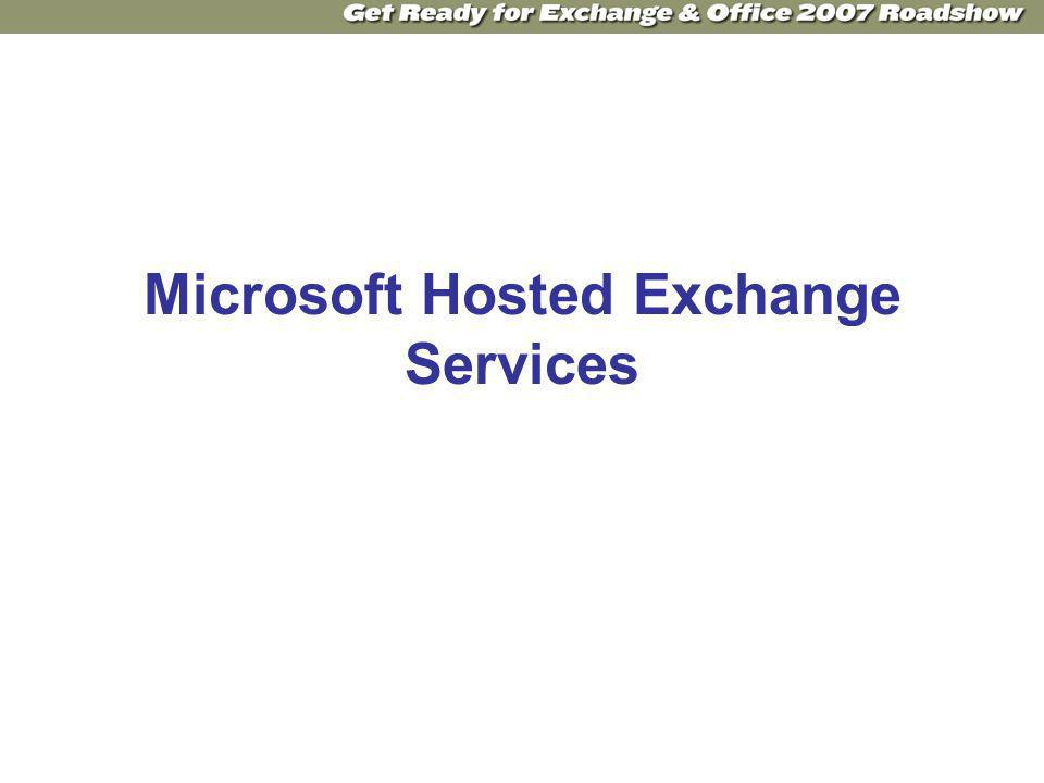 Microsoft Hosted Exchange Services