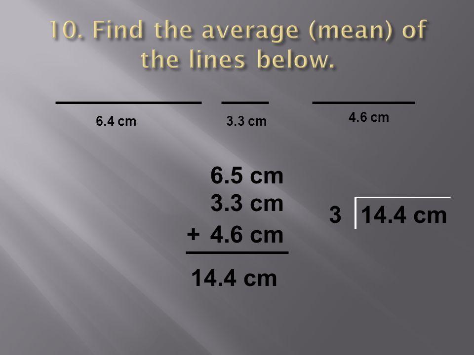 6.4 cm3.3 cm 4.6 cm 6.5 cm 3.3 cm 4.6 cm+ 14.4 cm 3