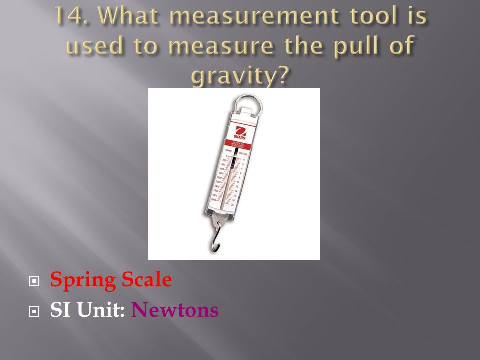 Spring Scale SI Unit: Newtons