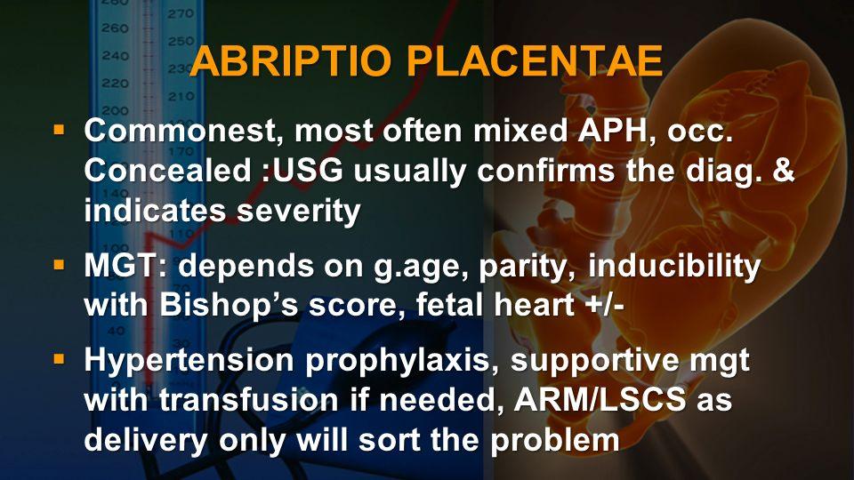 PPH Simple, atonic: preterm labour,ut.Inertia, incoordinate ut.