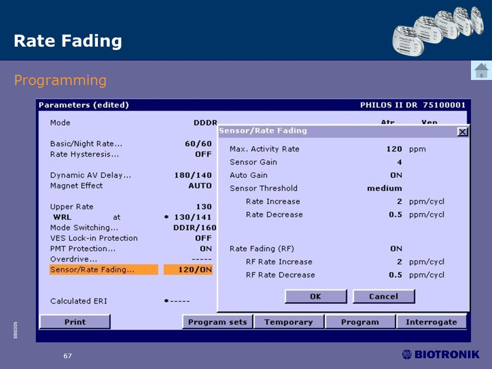 SSt0305 67 Rate Fading Programming