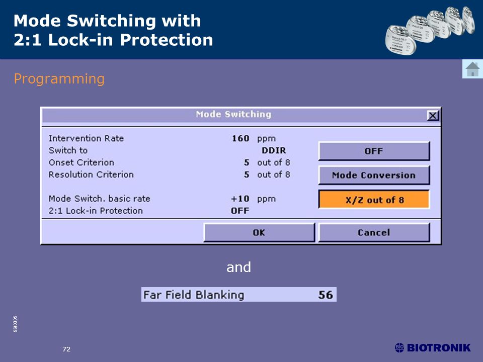 SSt0305 72 and Mode Switching with 2:1 Lock-in Protection Programming
