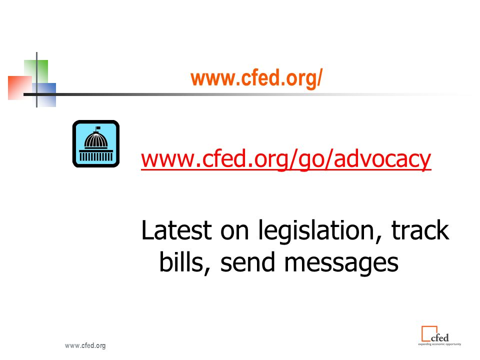 Latest on legislation, track bills, send messages