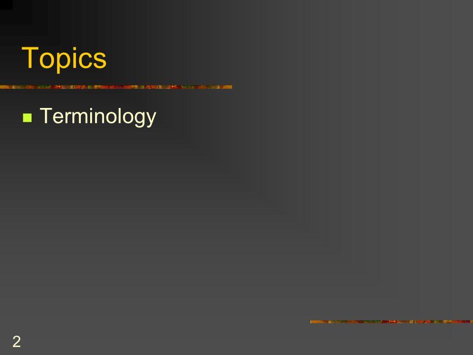 2 Topics Terminology