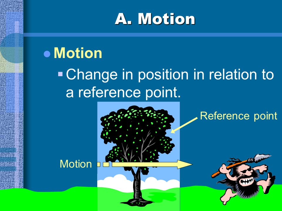 A. Motion Problem: Is your desk moving? We need a reference point... nonmoving point from which motion is measured