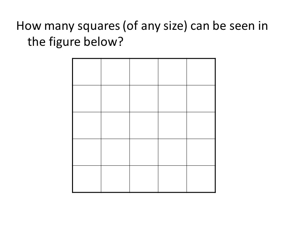 How many squares (of any size) can be seen in the figure below?
