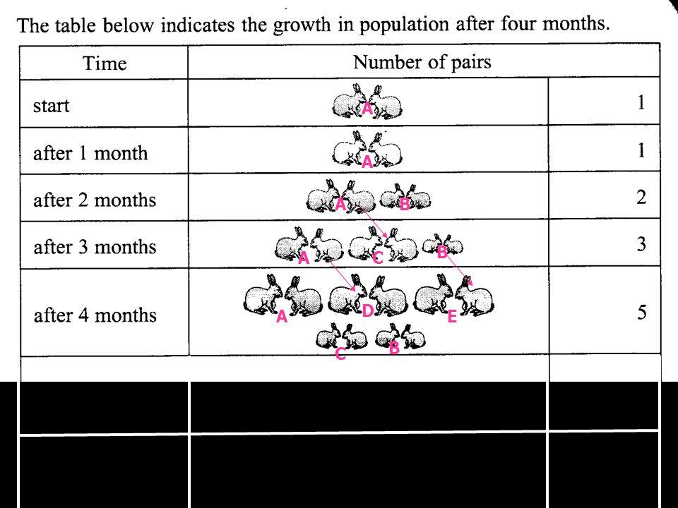 A A B E C A A A B C B D after 5 months after 6months