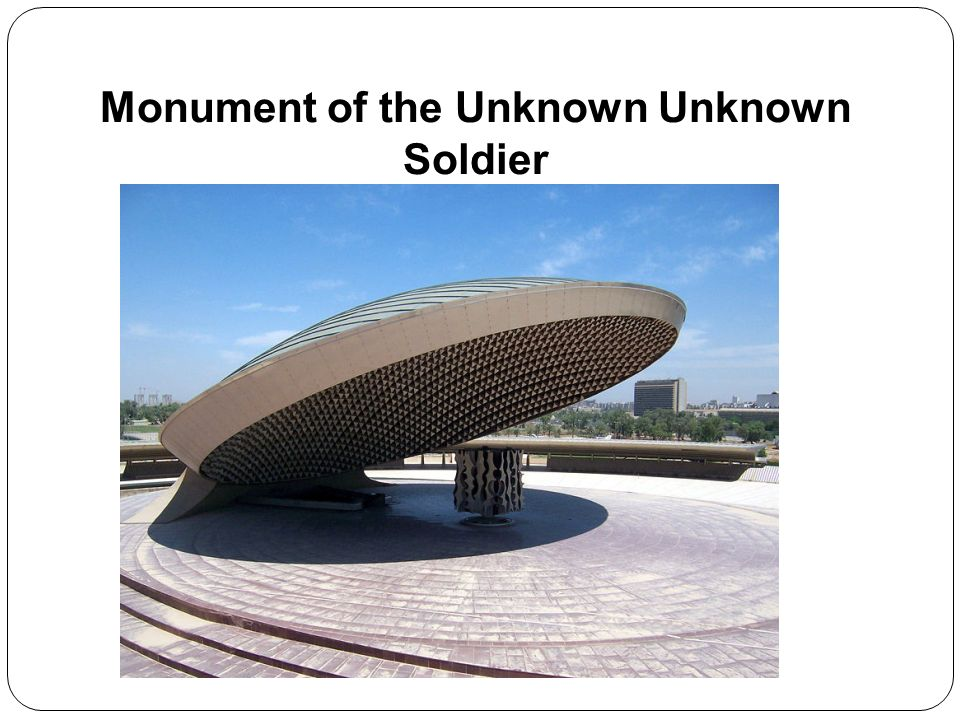 Monument of the Unknown Unknown Soldier