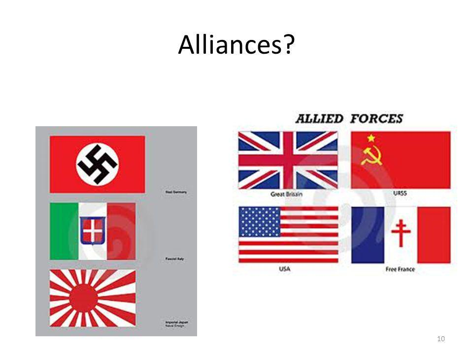 Alliances? 10