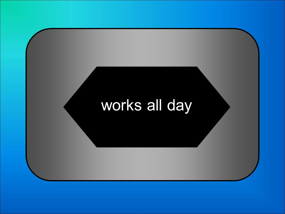 A:B: only works in the morning only works in the afternoon 18 Someone who has a full-time job is someone who… C:D: works all daysworks all day