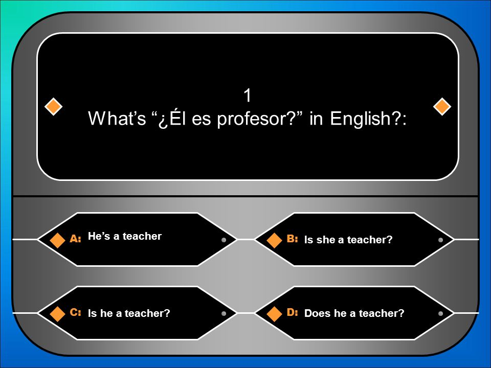 What is … in English? Level II