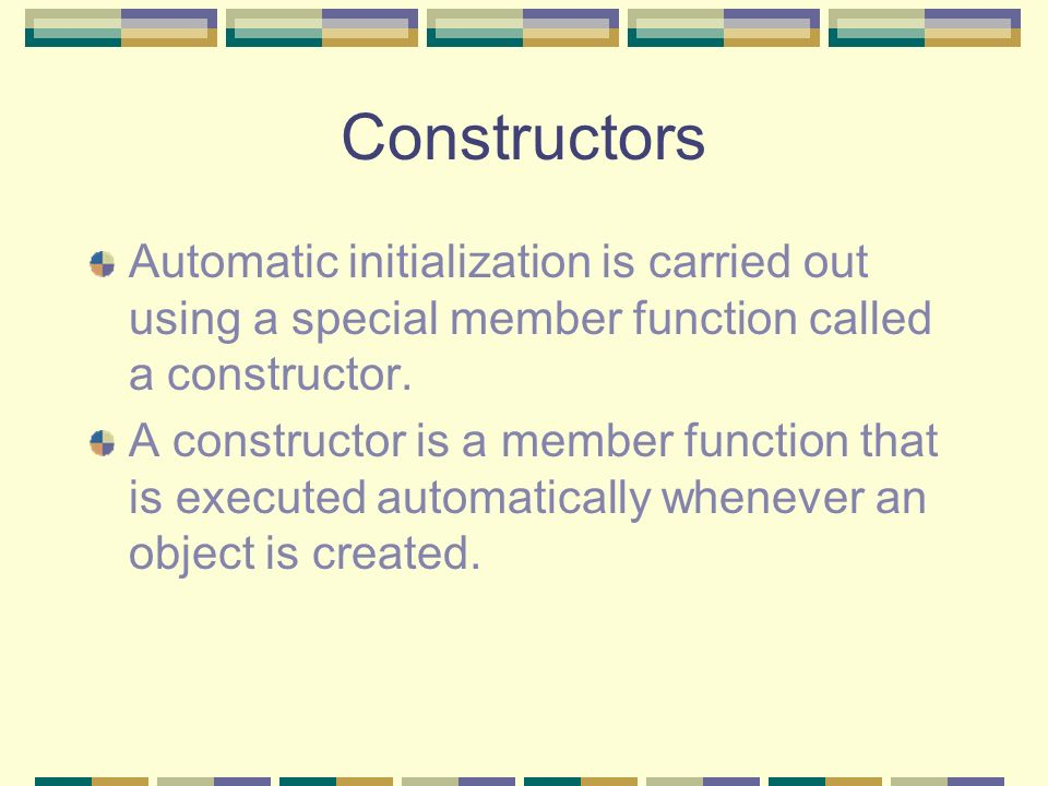 Overloaded Constructors It turns out that there is a implicit no- argument constructor that is built into the program automatically by the compiler, and its this constructor that created the objects, even though we didnt define it in the class.