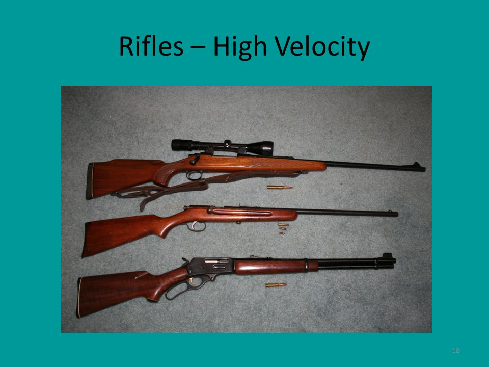18 Rifles – High Velocity