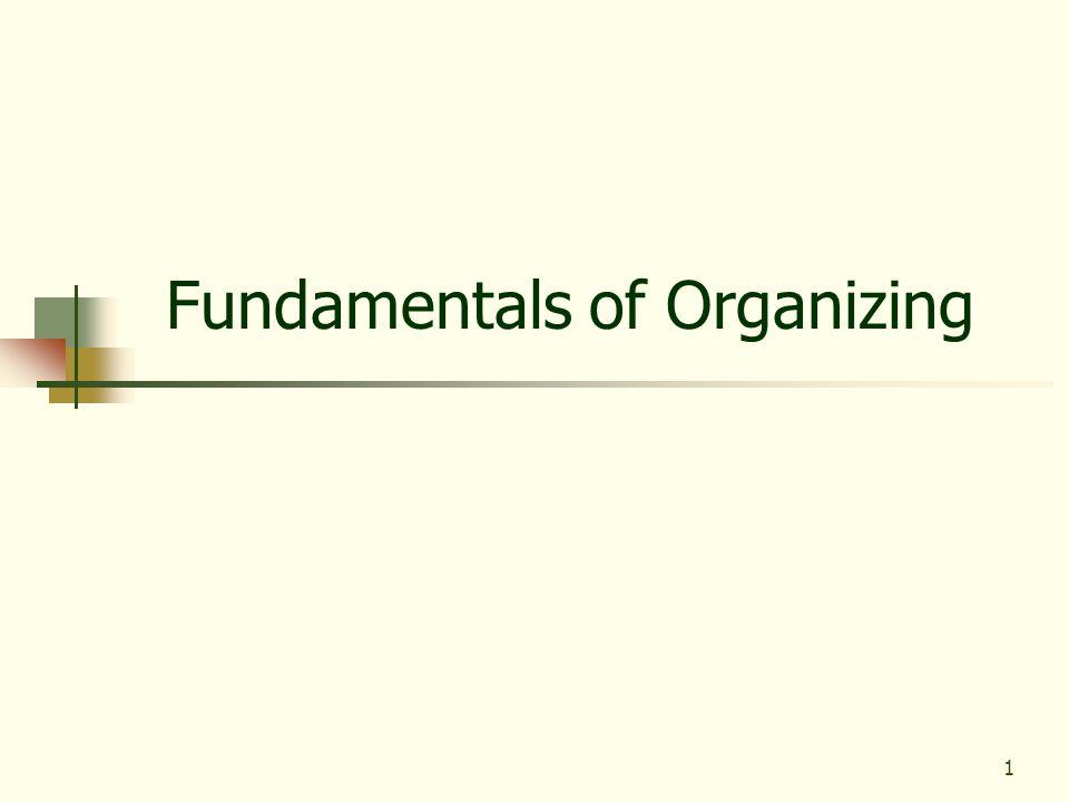 1 Fundamentals of Organizing