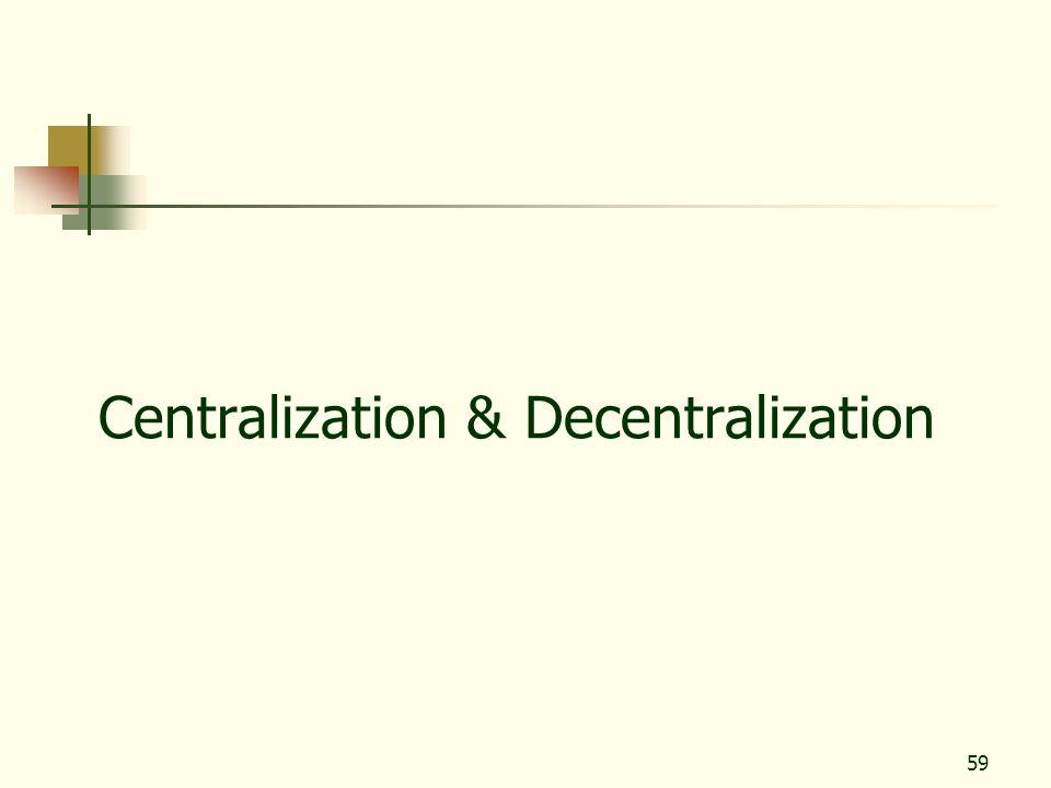 59 Centralization & Decentralization