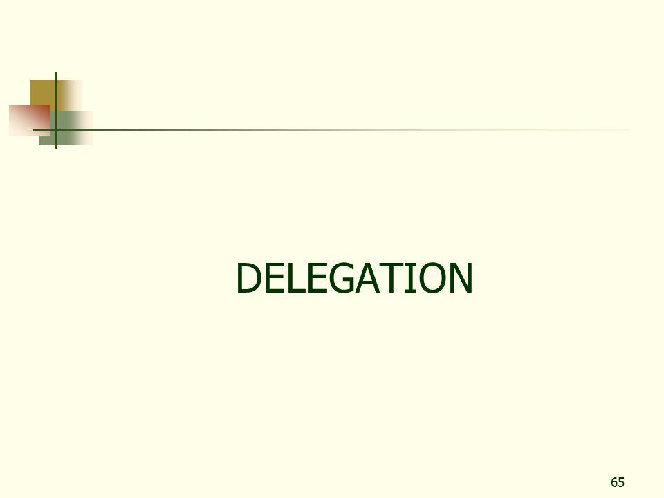 65 DELEGATION