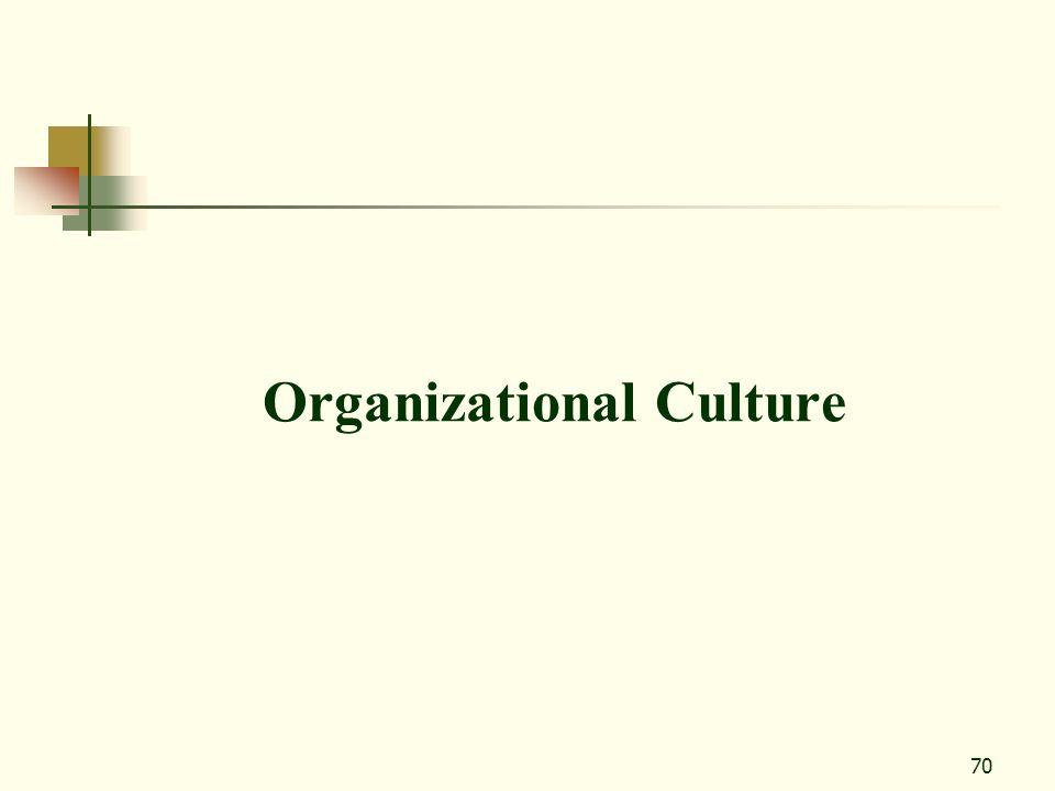 70 Organizational Culture