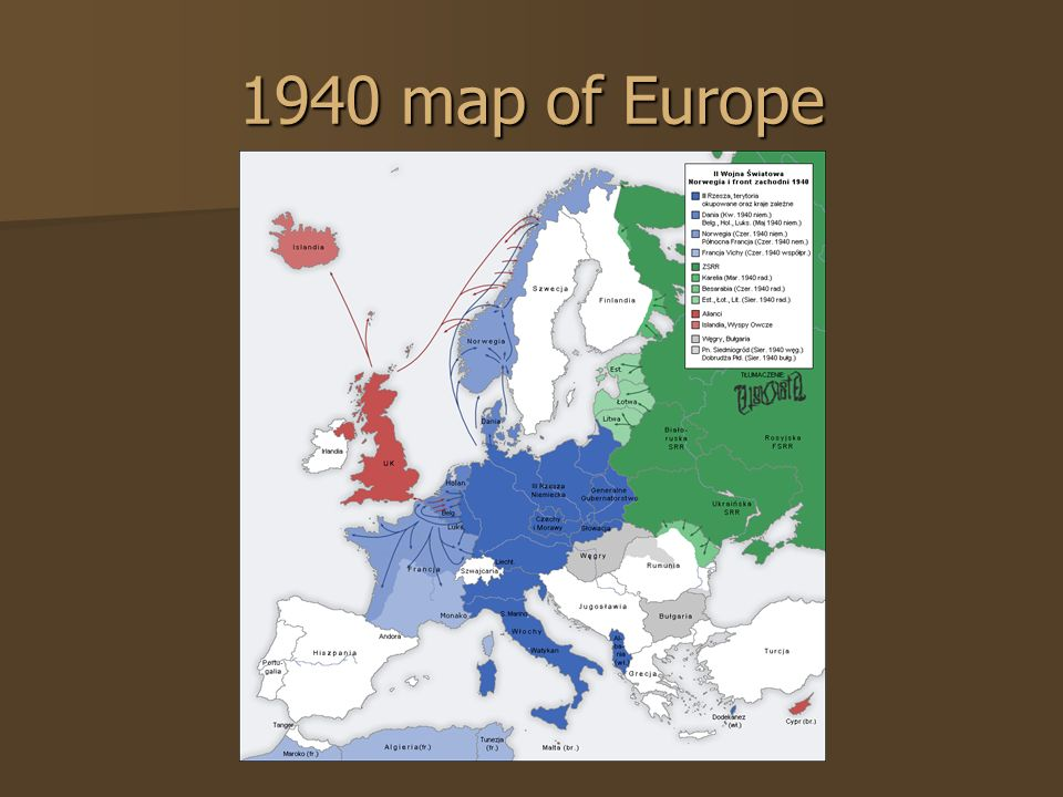 1940 map of Europe