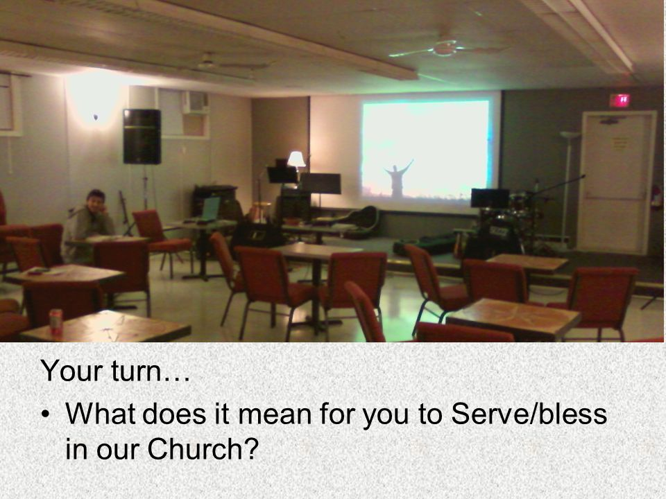 Your turn… What does it mean for you to Serve/bless in our Church?