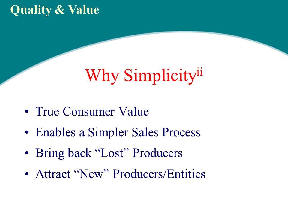 Why Simplicity ii True Consumer Value Cash = Maximum Flexibility 100% Benefits Paid – Guaranteed!.