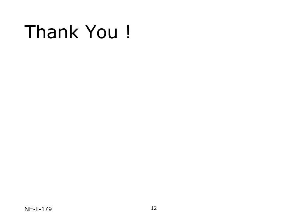 NE-II-179 Thank You ! 12