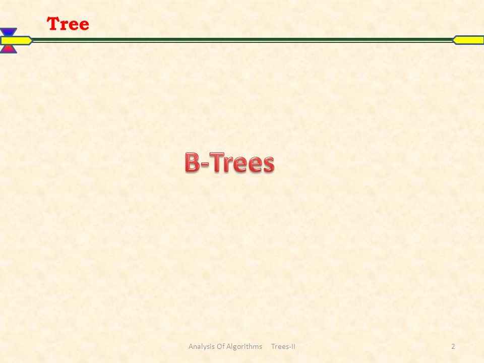 Tree Analysis Of Algorithms Trees-II2