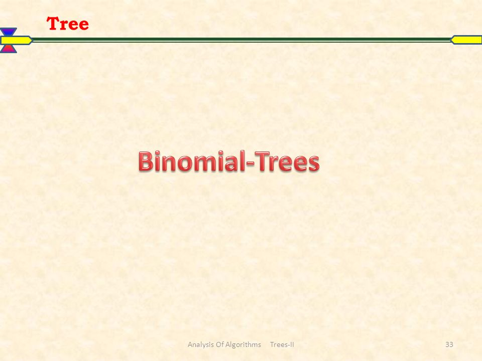 Tree Analysis Of Algorithms Trees-II33