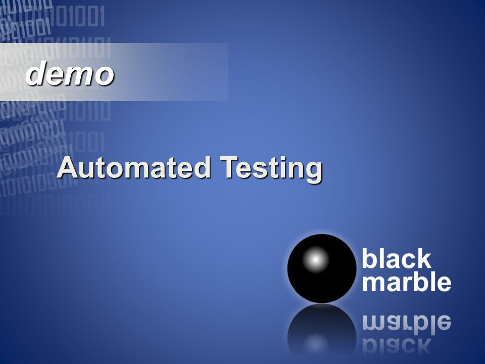 demo demo Automated Testing