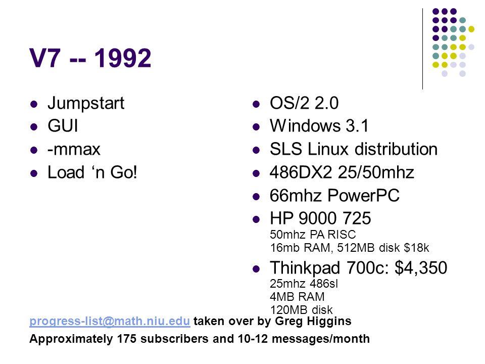 V7 -- 1992 Jumpstart GUI -mmax Load n Go.