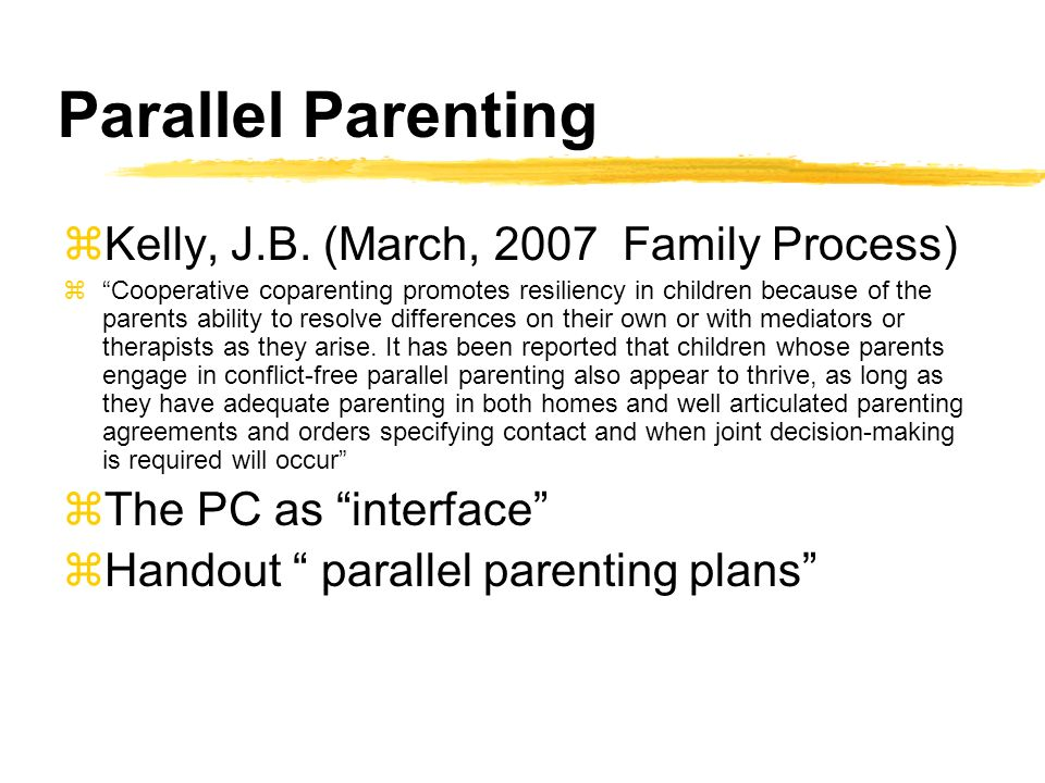 Parallel Parenting zKelly, J.B.