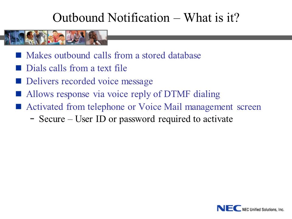Outbound Notification – What is it.