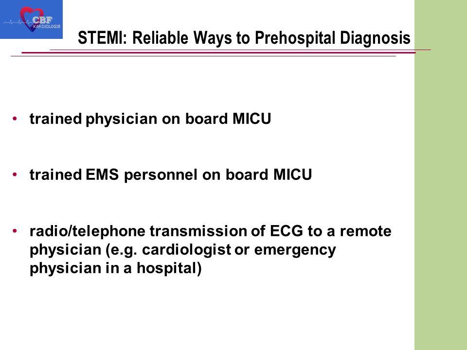 Prehospital ECG: Data ManagementCBF KARDIOLOGIE Transmission to PC Transmission to Fax Computerized ECG analysis Transmission to PCTransmission to Fax