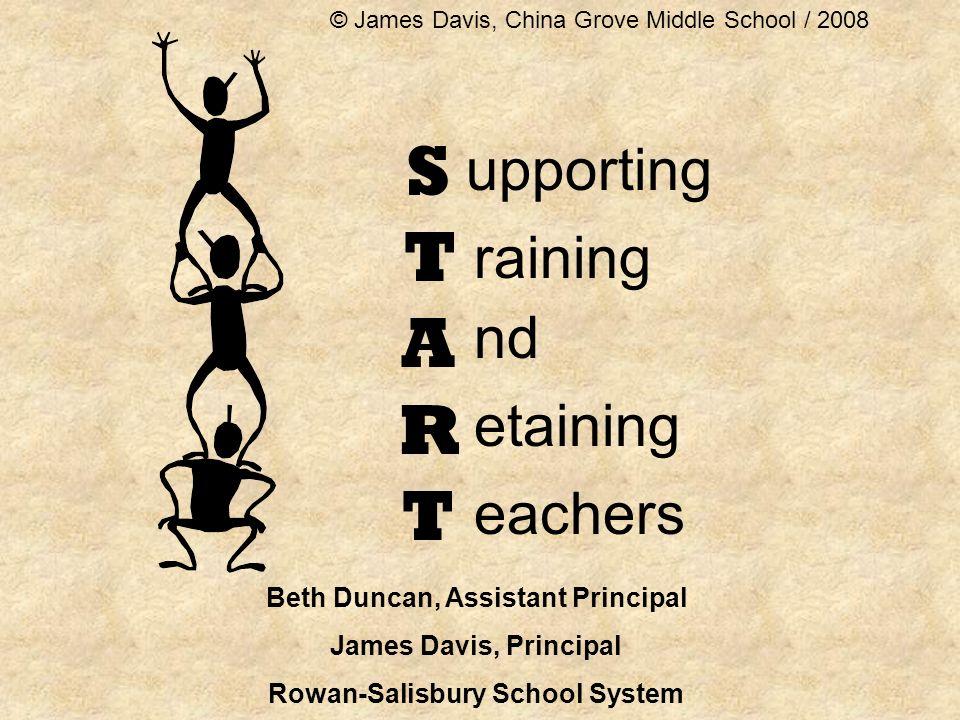 STARTSTART upporting nd etaining eachers raining Beth Duncan, Assistant Principal James Davis, Principal Rowan-Salisbury School System © James Davis, China Grove Middle School / 2008