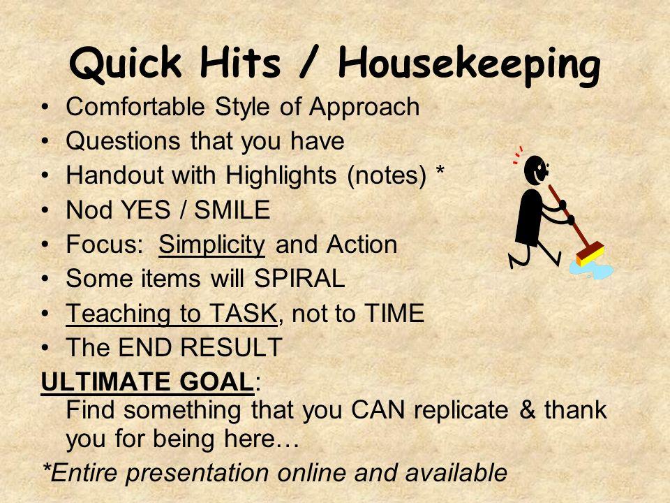 Tip #1: Hall Duty