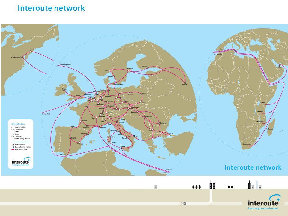 Invitel International Network Interoute network