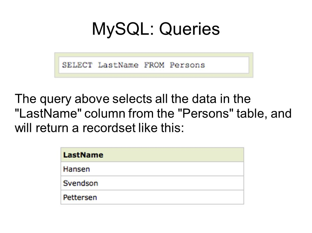 MySQL: mysql_connect() Before you can access data in a database, you must create a connection to the database.