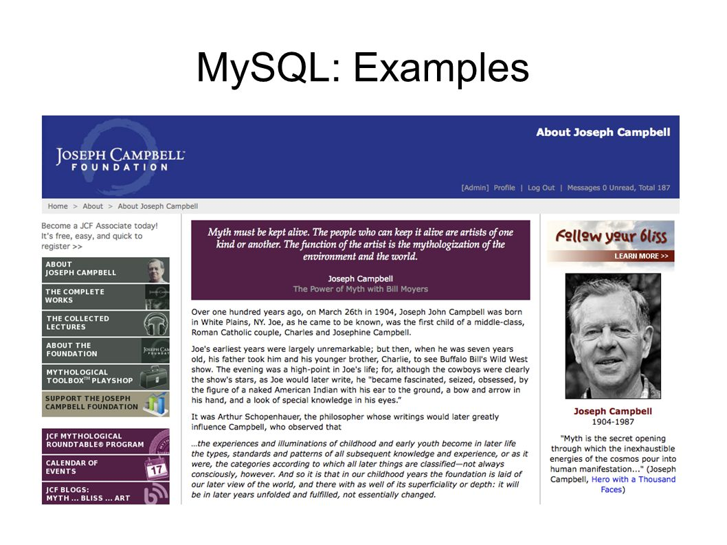 MySQL: Examples