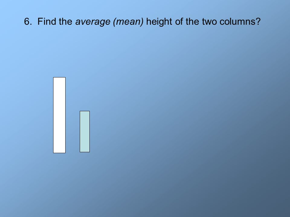 6. Find the average (mean) height of the two columns?