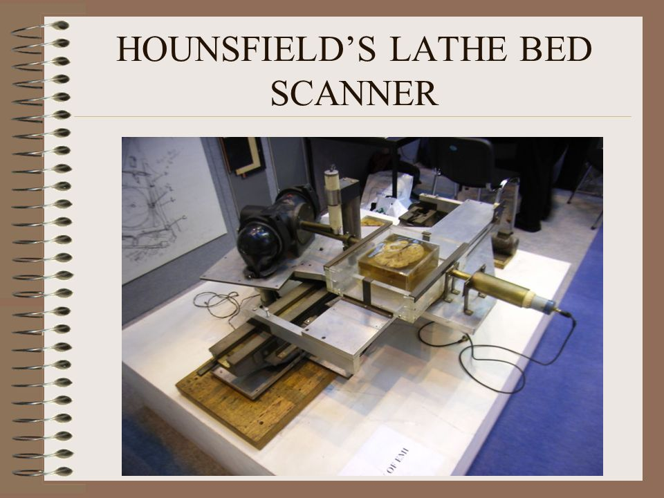 HOUNSFIELDS LATHE BED SCANNER