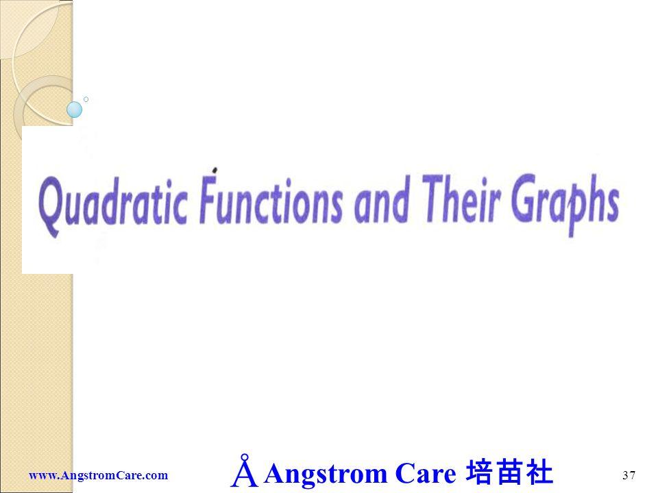 Angstrom Care 36www.AngstromCare.com c 0 x y O m 0 c