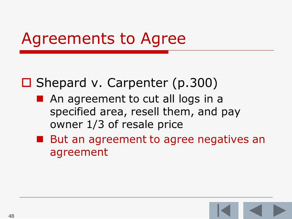 Agreements to Agree Shepard v.