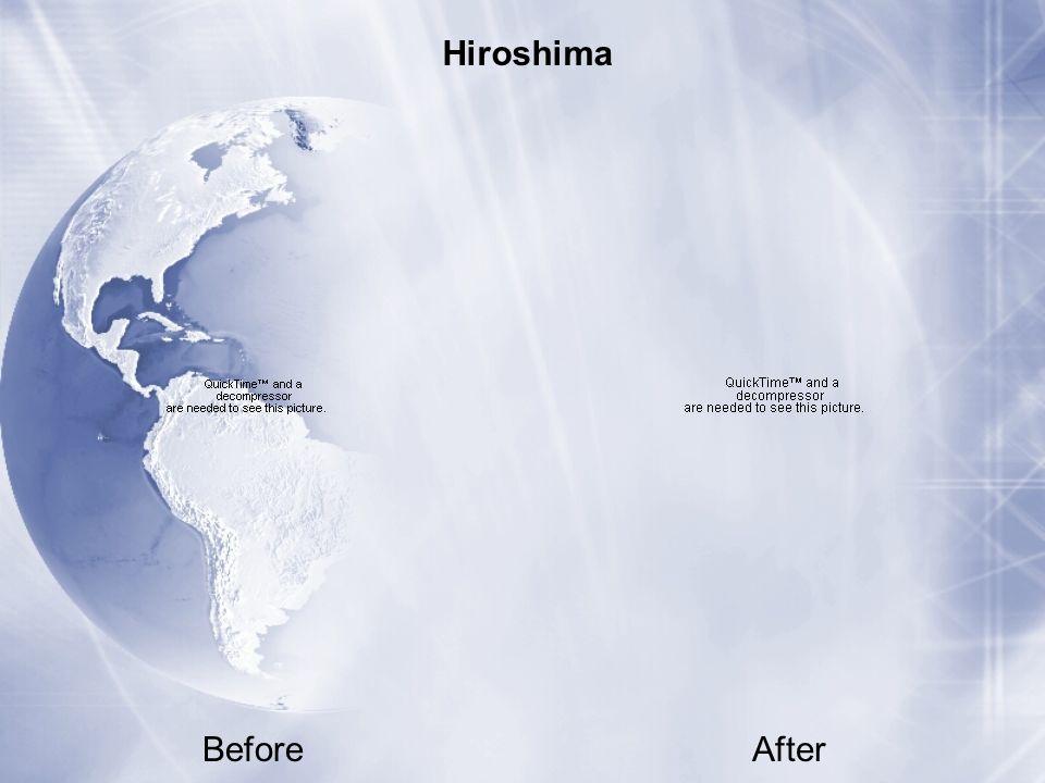 BeforeAfter Hiroshima