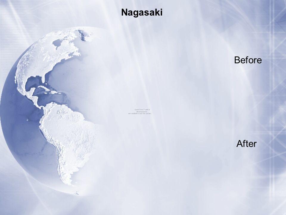Before After Nagasaki