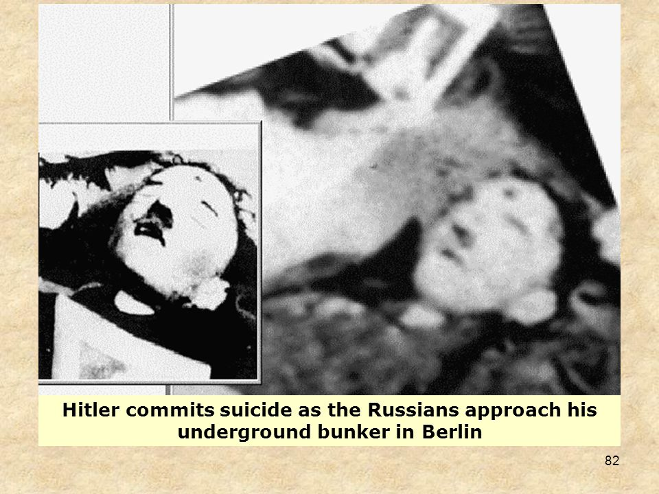 81 German Surrender Hitler decided to await the end in Berlin, where he could still manipulate what was left of the command apparatus. Most of his pol